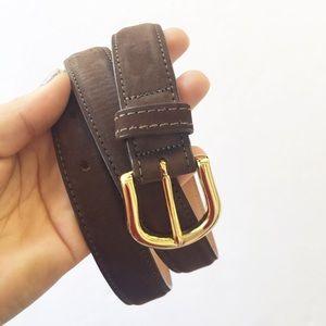 Cole Haan | Dark Brown Suede Leather Belt Size 38